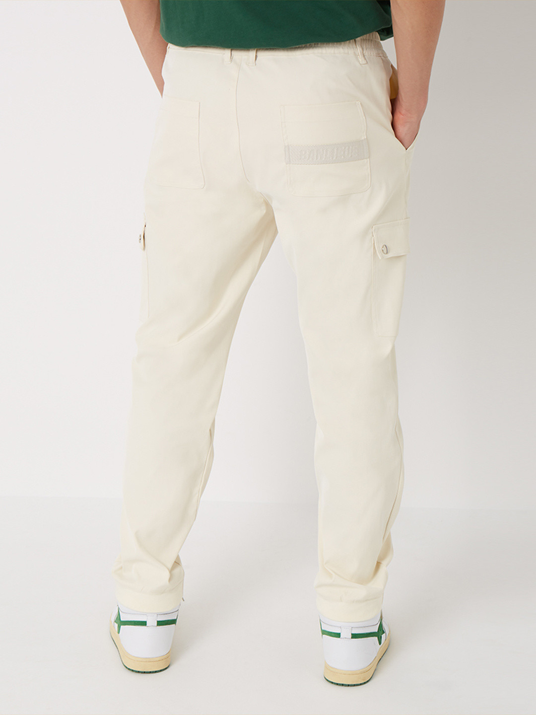 TWILL CARGO PANTS CREAM BLANC
