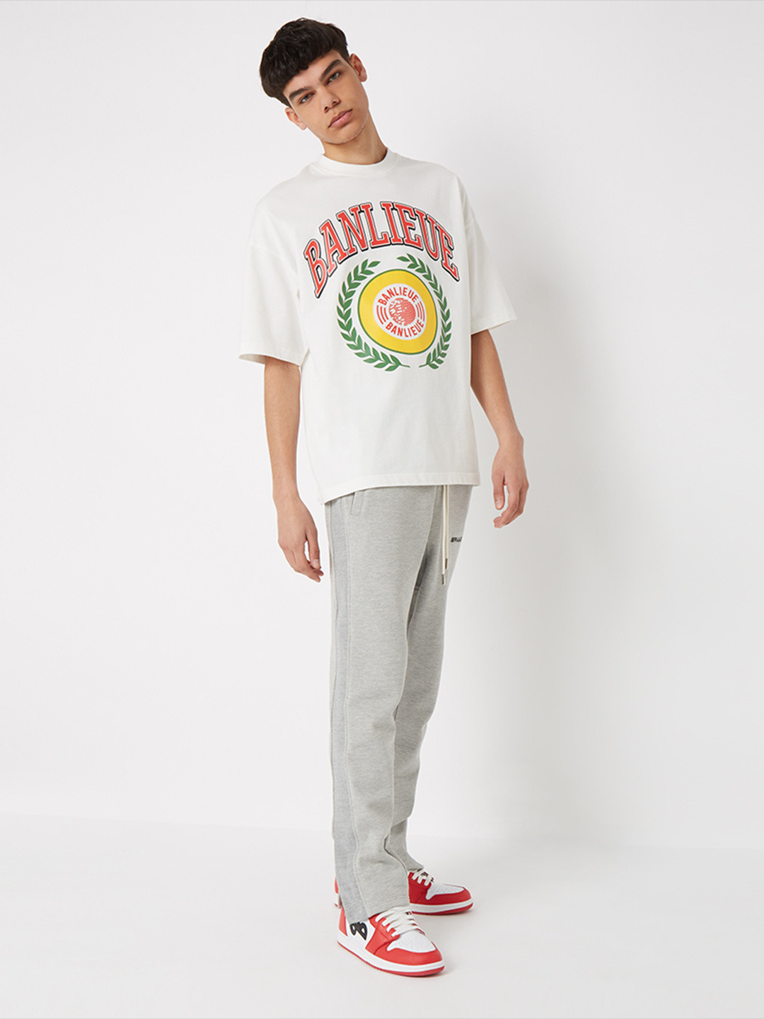 WARMING UP SWEATPANTS HEATHER GREY