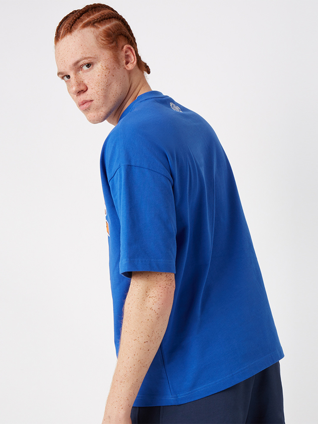 CREST LOGO T-SHIRT ROYAL BLEU