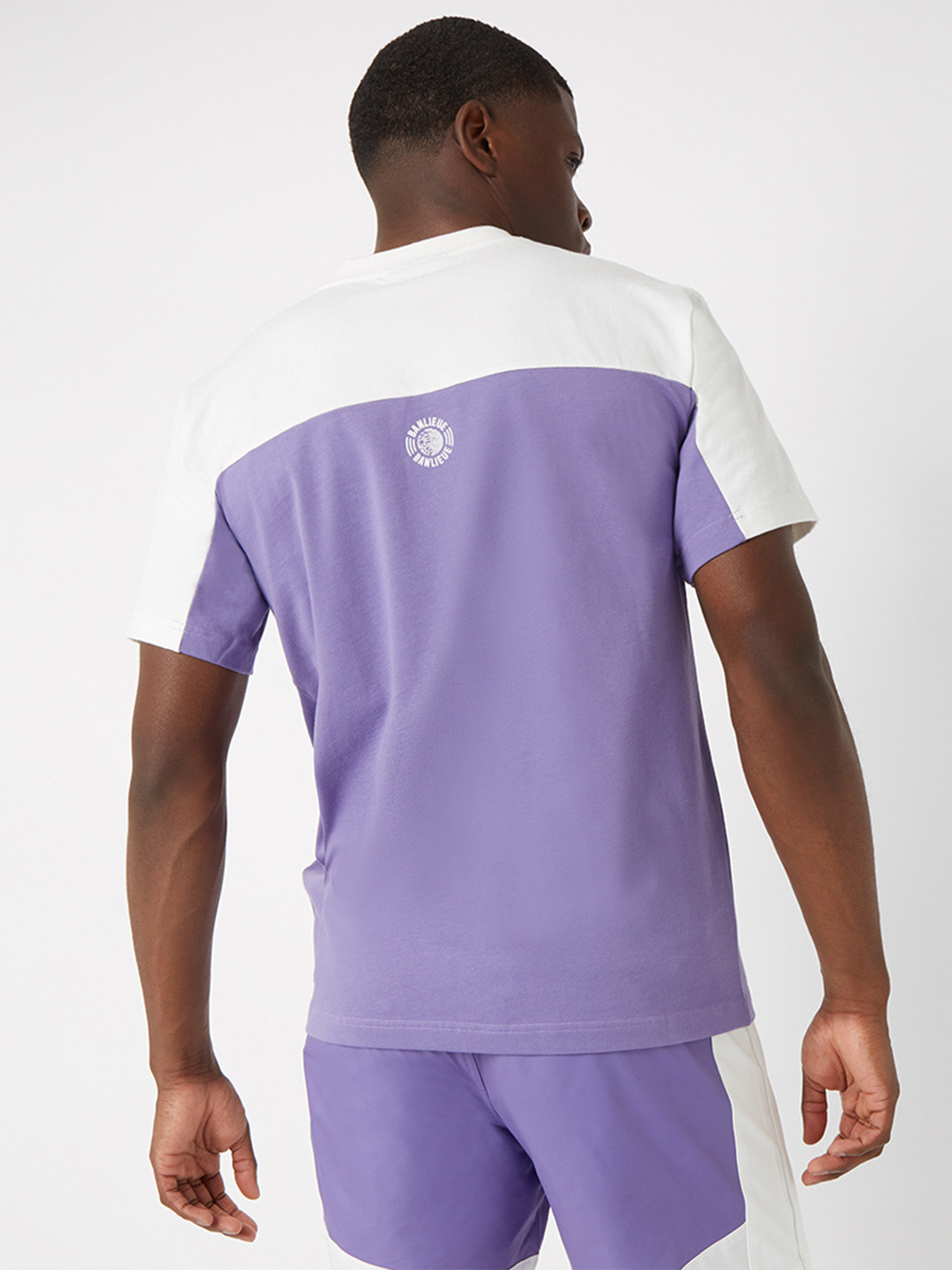 3D T-SHIRT WHITE/PURPLE