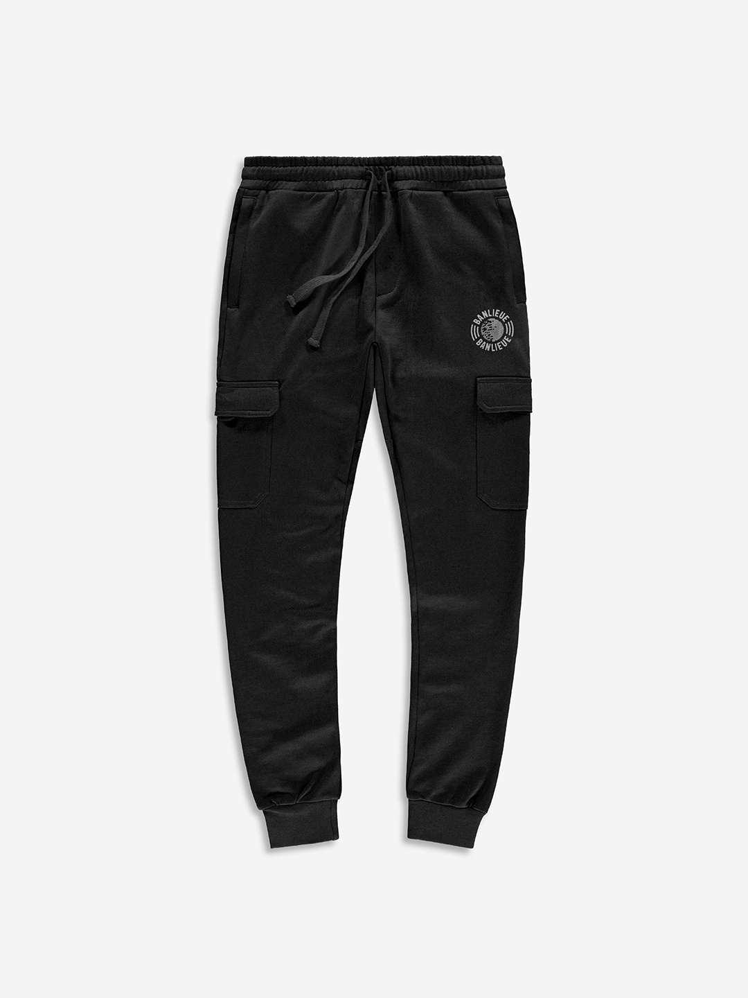TONAL CARGO SWEATPANTS BLACK