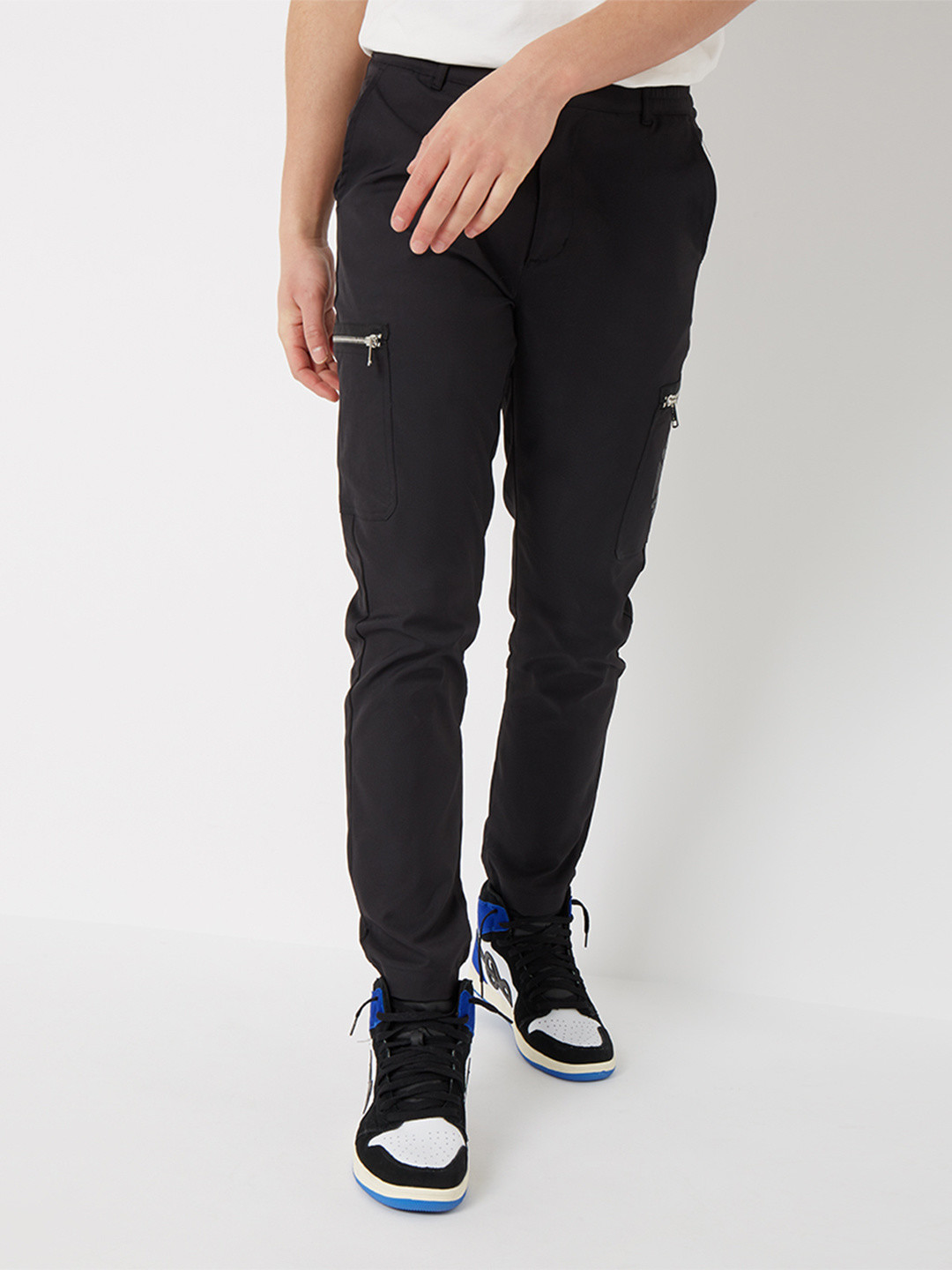 TWILL CARGO PANTS BLACK