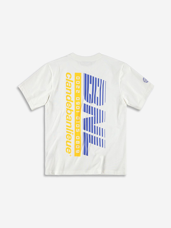 RACING T-SHIRT WHITE/ROYAL BLUE