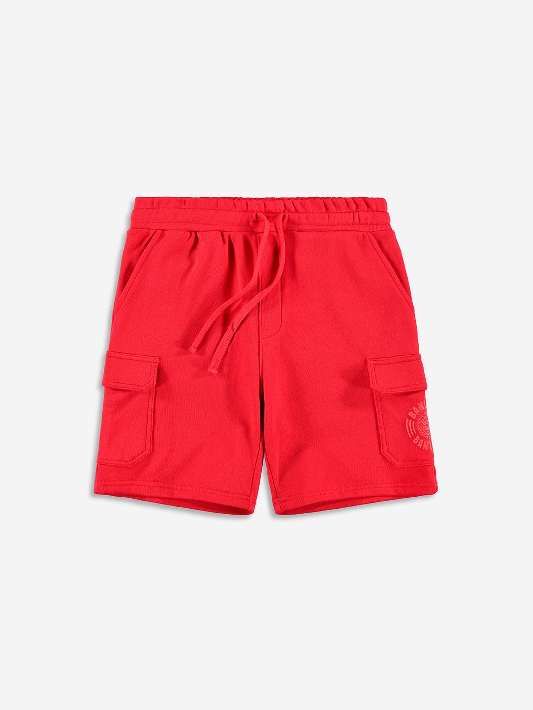 TONAL CARGO SHORTS RED