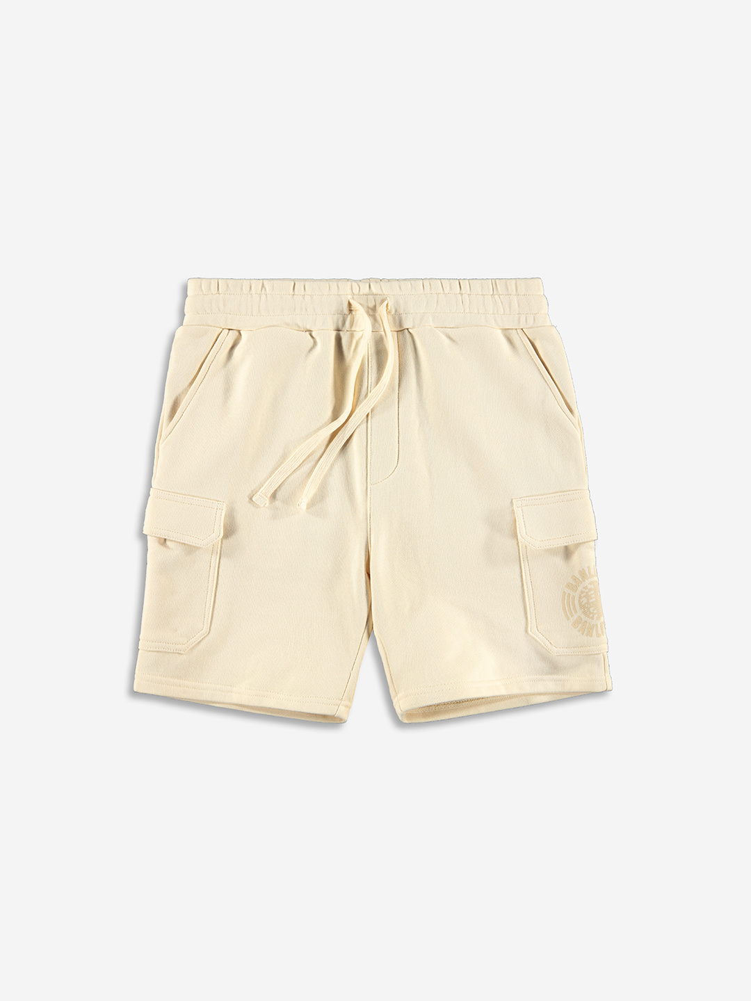 TONAL CARGO SHORTS CREAM BLANC