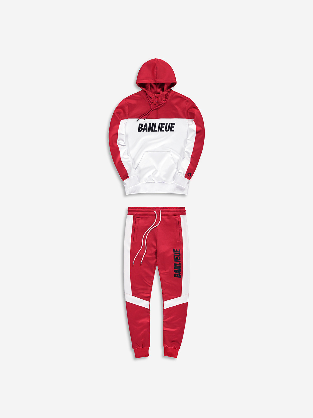 3D TRACKSUIT RED/WHITE