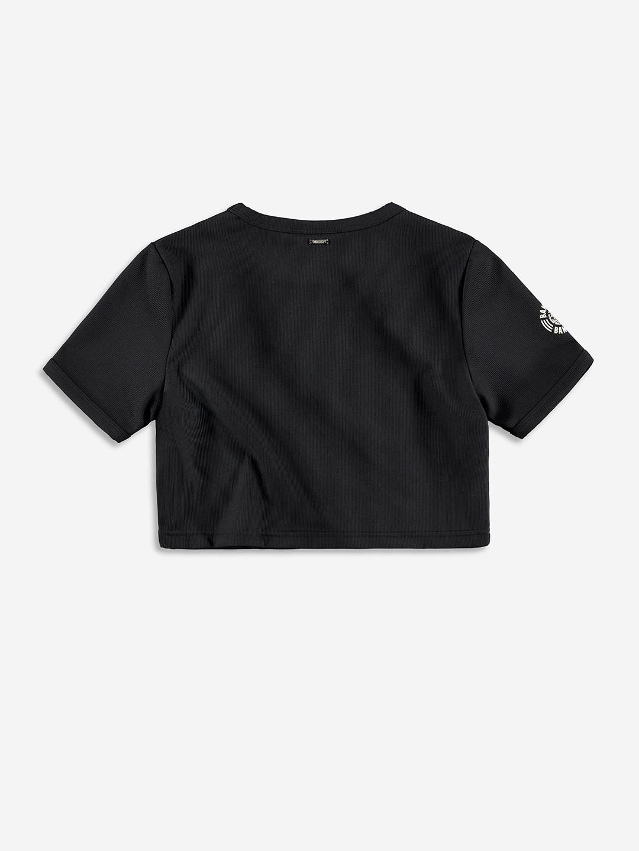 RIBBED CROP TOP BLACK