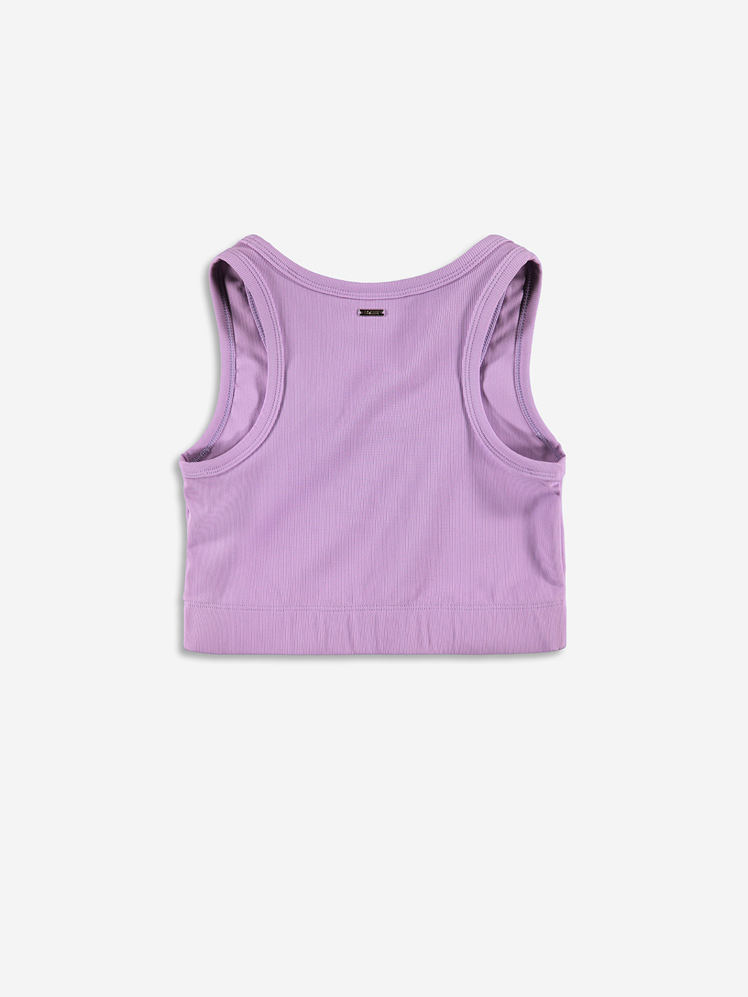 RIBBED SPORTY CROP TOP LILAC