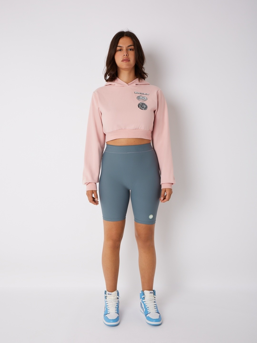 CROPPED CHROME HOODIE ROSE