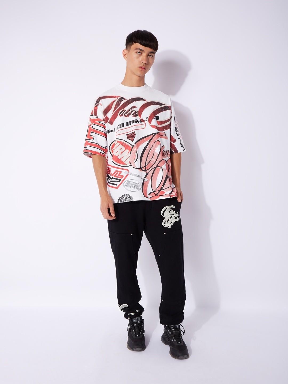 RE-PEAT T-SHIRT RICE WHITE/BLACK/RED