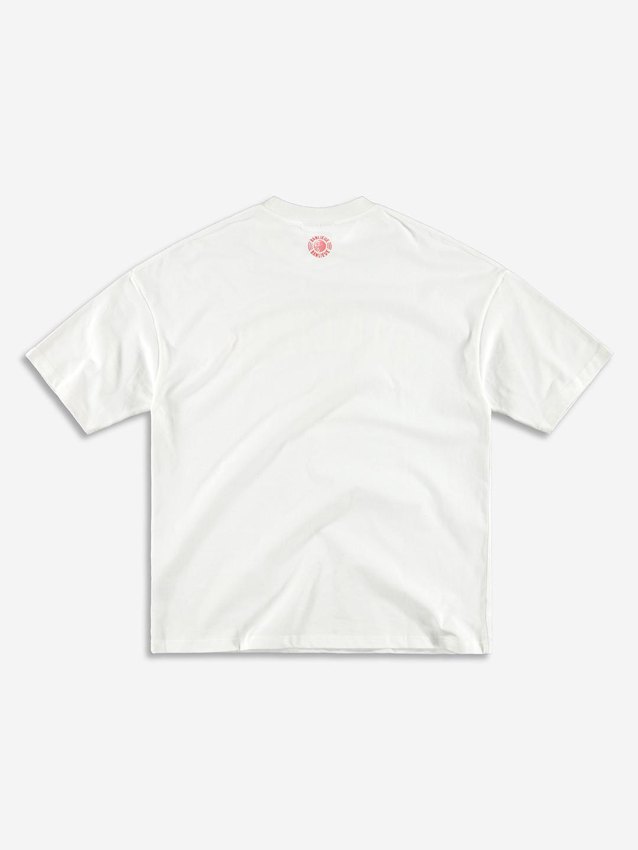 CREST T-SHIRT WHITE/YELLOW