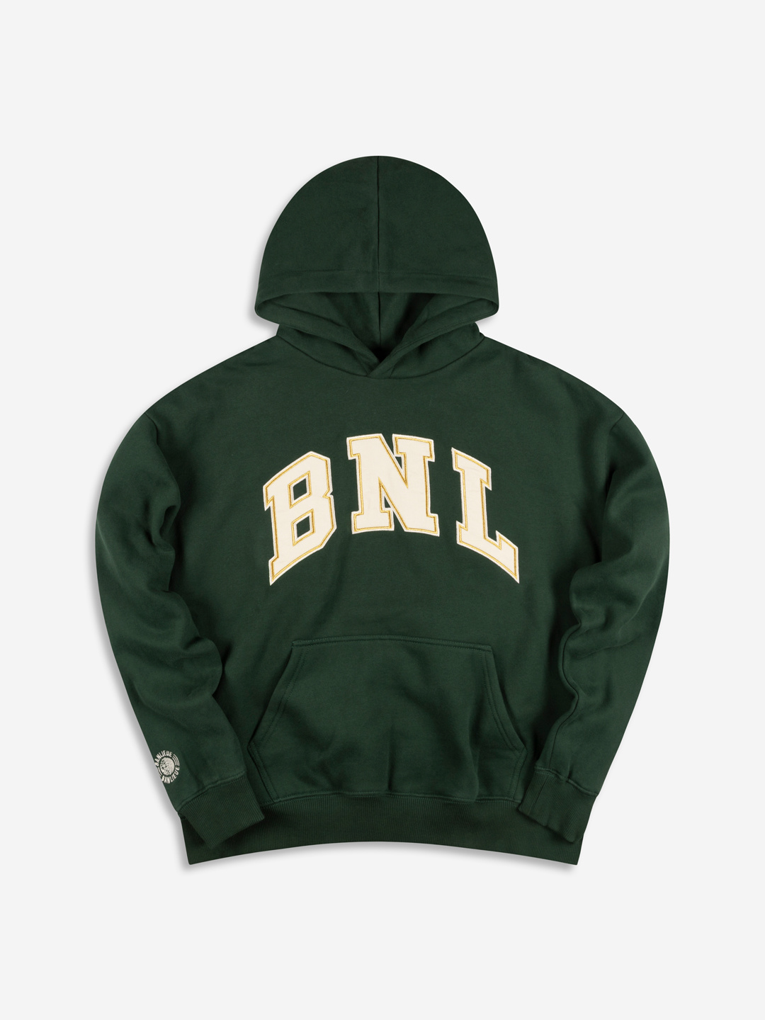 COLLEGE GRAPHIC HOODIE FORÊT/CREAM BLANC