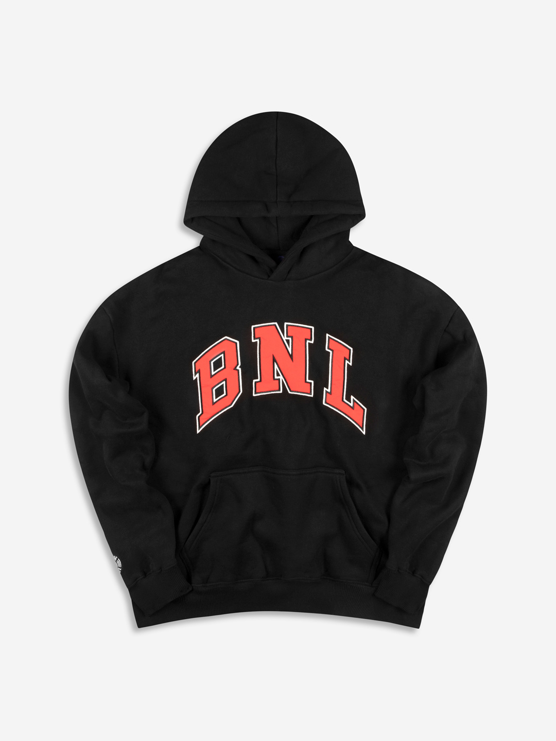 COLLEGE GRAPHIC HOODIE BLACK/RED