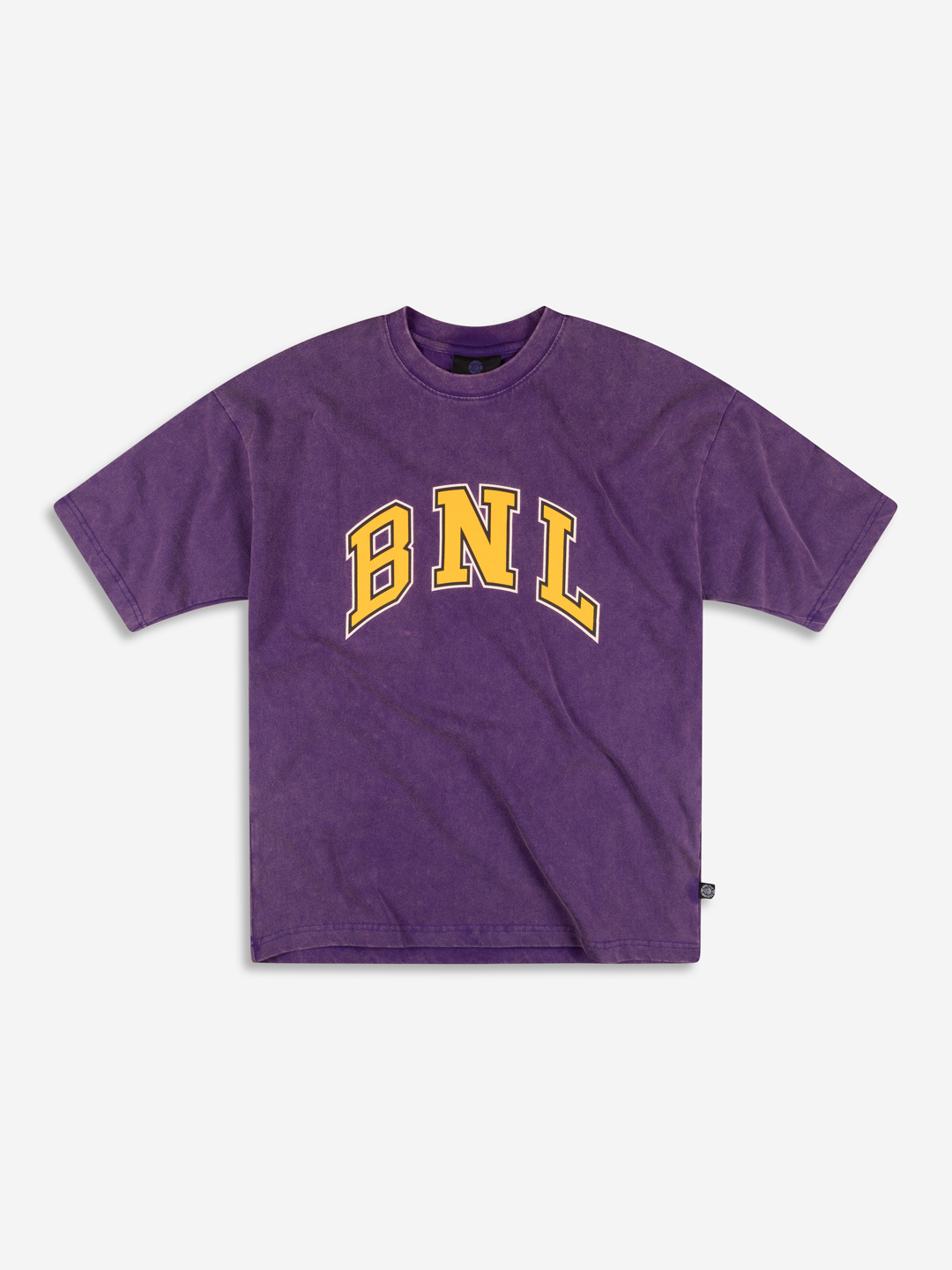 COLLEGE GRAPHIC T-SHIRT WASHED PURPLE/YELLOW