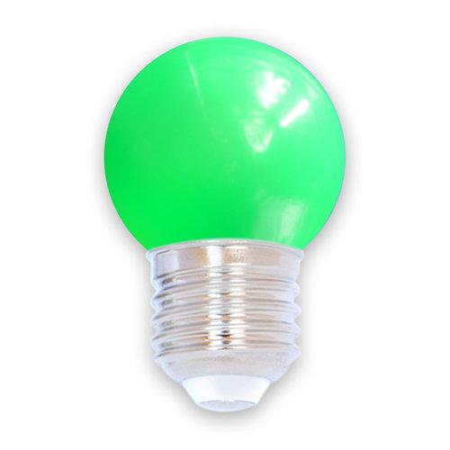 1 watt, groen, met groene standaard kap Ø45