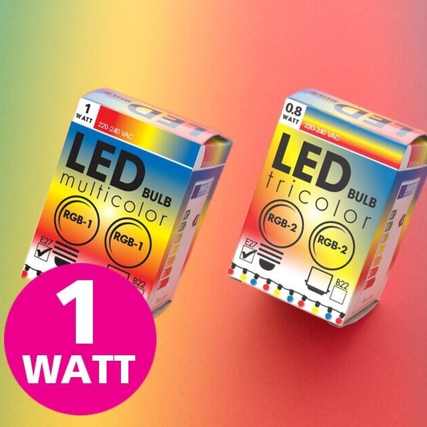 1 watt - RGB Changing color lampen