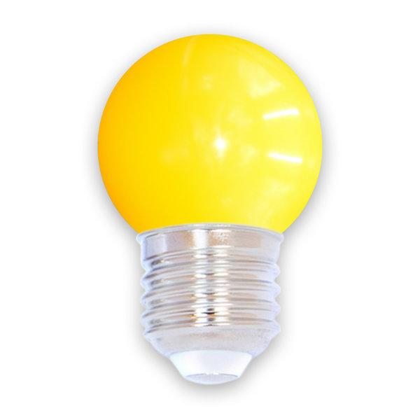 2 watt, geel, standaard kap Ø45