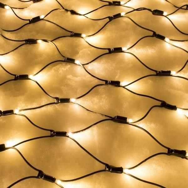 Kerstverlichting net   2x1 meter - warm wit
