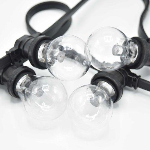 Transparante, gekleurde lamp met grote kap Ø60