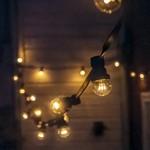 Warm witte LED lampen met LEDs op stokjes (gele gloed)