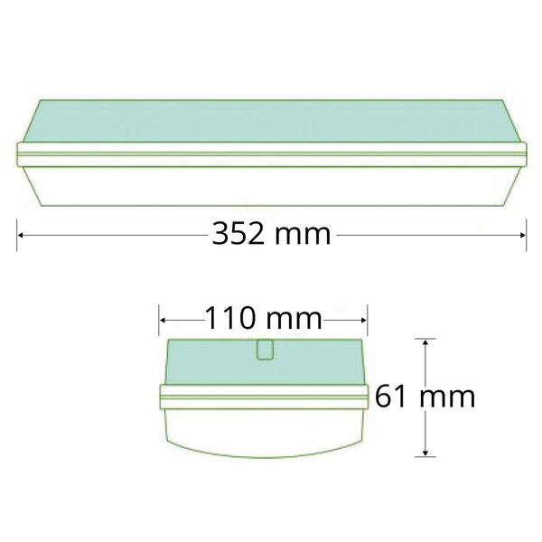 3 watt noodverlichting met transparante kap, OTG-KL