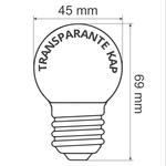 Prikkabel set met LED lampen met LEDs in bodem