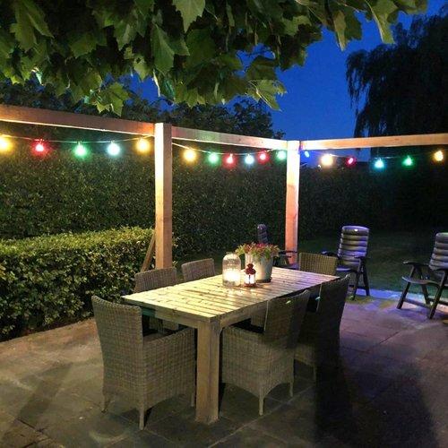 Complete prikkabel set met 8 kleuren LED lampen, 5 tot 100 meter