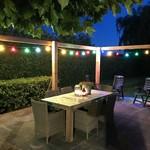 Complete prikkabel set met 4 kleuren filament LED lampen