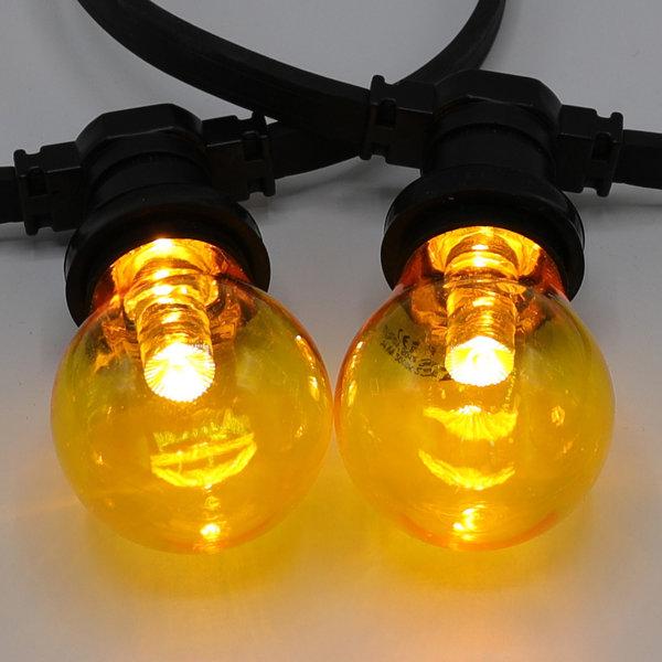 1 watt, geel, gele grote transparante kap Ø60