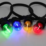 Prikkabel set met 4 kleuren filament LED lampen, 5 tot 100 meter