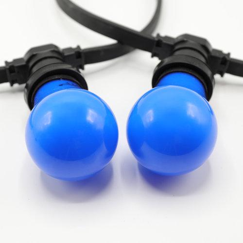 2 en 5 watt, blauw, blauwe grote kap Ø60