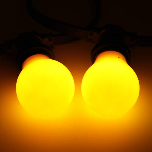 2 en 5 watt, geel, gele grote kap Ø60