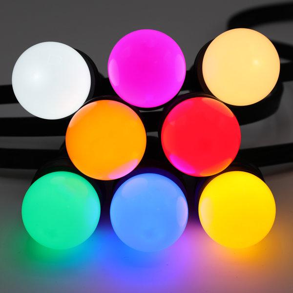 Prikkabel set met 8 kleuren LED lampen, 5 tot 100 meter