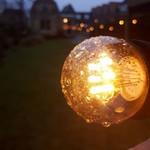Warm witte LED lampen met LEDs op lange stokjes