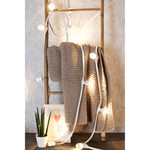 Prikkabel set met lampen met LEDs  op stokjes, met witte prikkabel