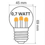 Prikkabel set met lampen met LEDs  op lange stokjes