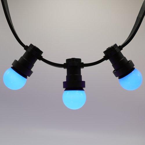 1 watt, blauw,  met blauwe standaard kap Ø45