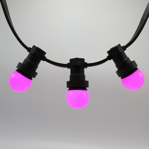 1 watt roze lampen met standaard kap Ø45