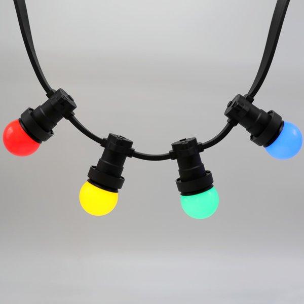 Complete prikkabel set met 4 kleuren LED lampen, 5 tot 100 meter