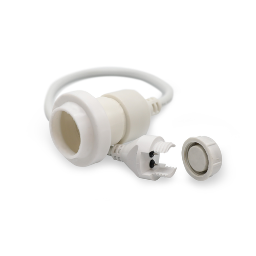 Hangende fitting (wit) - zelfmontage (excl. lamp)