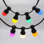 Complete prikkabel set met 7 kleuren LED lampen