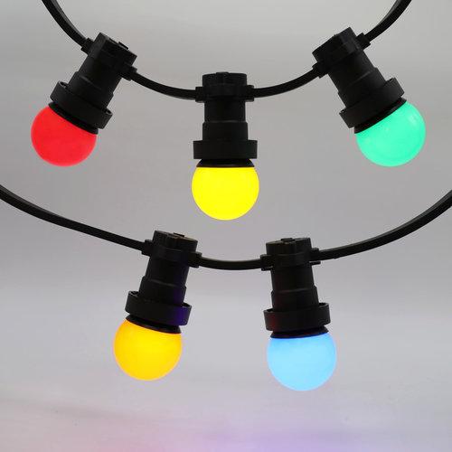 Complete prikkabel set met 5 kleuren LED lampen, 5 tot 100 meter
