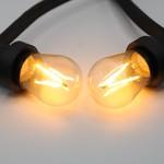 Prikkabel set met 3 watt, dimbare LED filament lampen