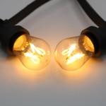 Prikkabel set met 3,5 watt, dimbare LED filament lampen