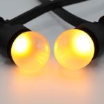 Prikkabel set met LED lampen met matte kap