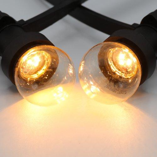 Prikkabel set met LED lampen met LEDs in bodem, 25 tot 100 meter