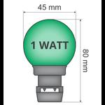 Priklamp - Groen (geen E27 fitting)