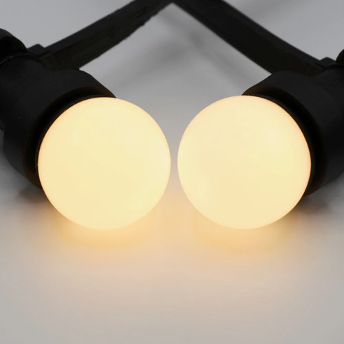 Prikkabel set met dimbare LED lampen met melkwitte kap
