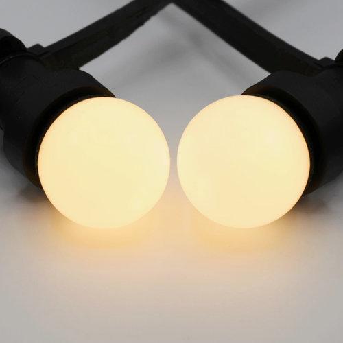 Prikkabel set met LED lampen met melkwitte kap
