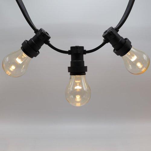 Prikkabel set met dimbare LED lampen met grote kap en lens